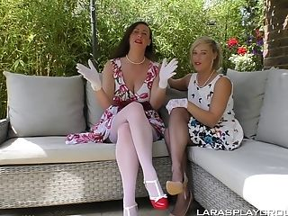 Matures Lezzie Honey Axa Jay Tempts Her Friend Into Puss Gobbling