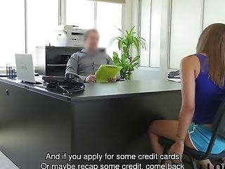 Bony Miss Is Looking For Currency So Man Offers Her Dirty Job