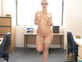 Whorish Obese Chick Beth Get Snaked And Dances In The Office