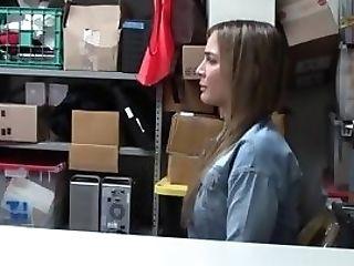 Teenage Thief Tits Spermed