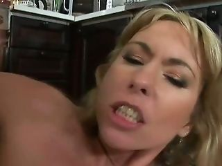 Voracious Mommy Angelina Is Screwed In Her Butt Fuck-hole Fucking In The Kitchen