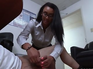 Suntanned Sexpot Arianna Knight Fucked Fiercely In The Office