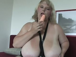 Buxom Matures Huge-boobed Blonde Bbw Juliana B. Strips And Masturbates