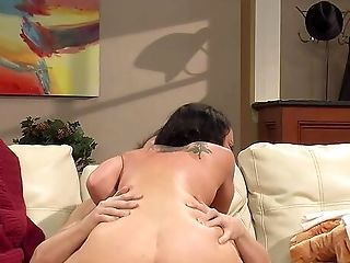 Mummy On High Stilettos, Insane Couch Porno With A Very Dangled Stud
