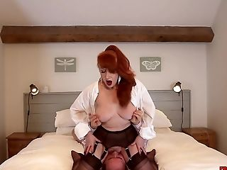 Matures Brit Sandy-haired Oral Joy Time