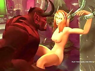 Warcraft Hookup Compilation With Elves (1)