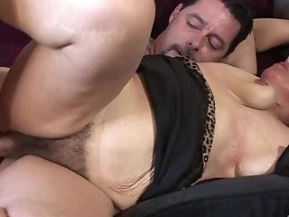 Tattooed Fellow Ultimately Gets To Fuck Nina Swiss While Her Tits Bounce