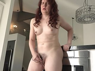 Masturbating In Kitchen Is What Always Worked For Mummy Annabelle
