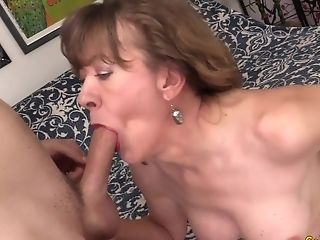 Horny Gilf Stunner Morgan Cannot Fight Back The Desire For Hard Trunk