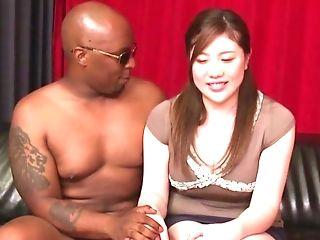 Black Dude Wrecks Raw Cooter Of Nishiyama Asahi With His Fat Dick
