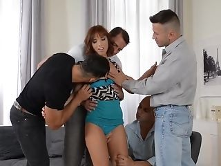 Fabulous Adult Movie Star Tina Hot In Greatest Gang-fuck, Double Penetration Adult Flick