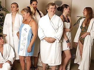 Matures Ladies Calming In A Sauna