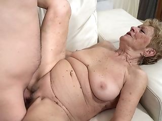 Nasty Old Bag Malya Gets Her Twat Fucked By One Youthful Student